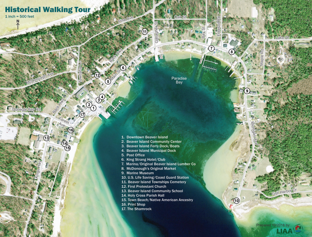 Beaver Island Historical Walking Tour-Map